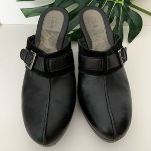 """Cole Haan leather 4"""" heel slip on shoes Size 10 US"""